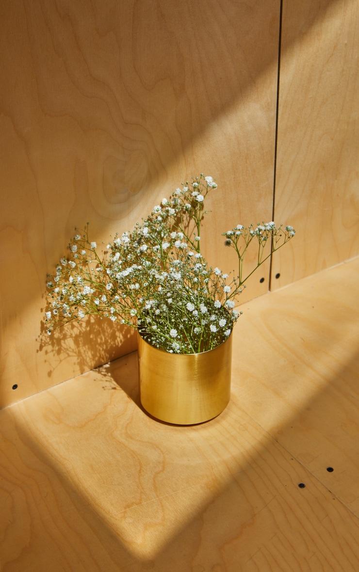 Gold Round Metal Vase 1