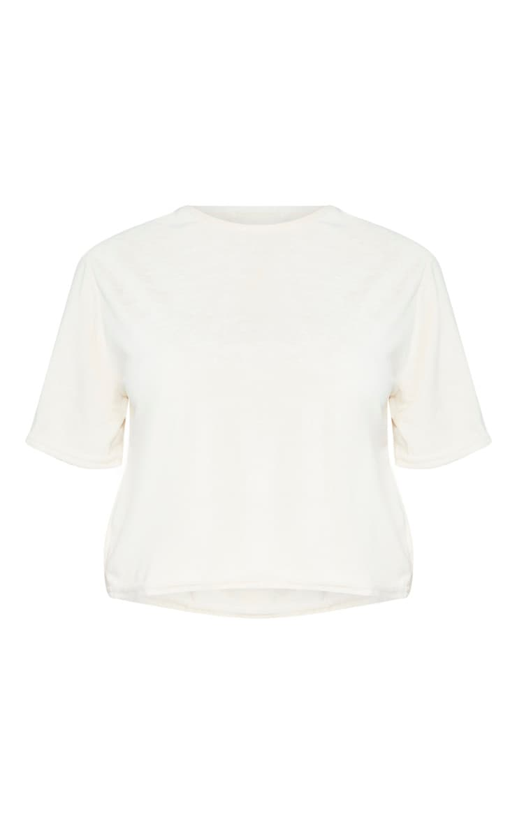 Petite Stone  Velour Cropped T-Shirt  3