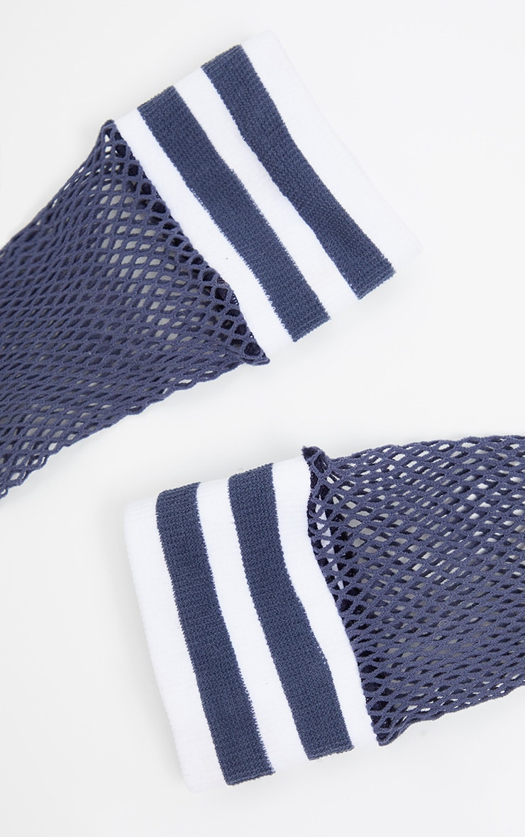 White Sports Fishnet Sock 4