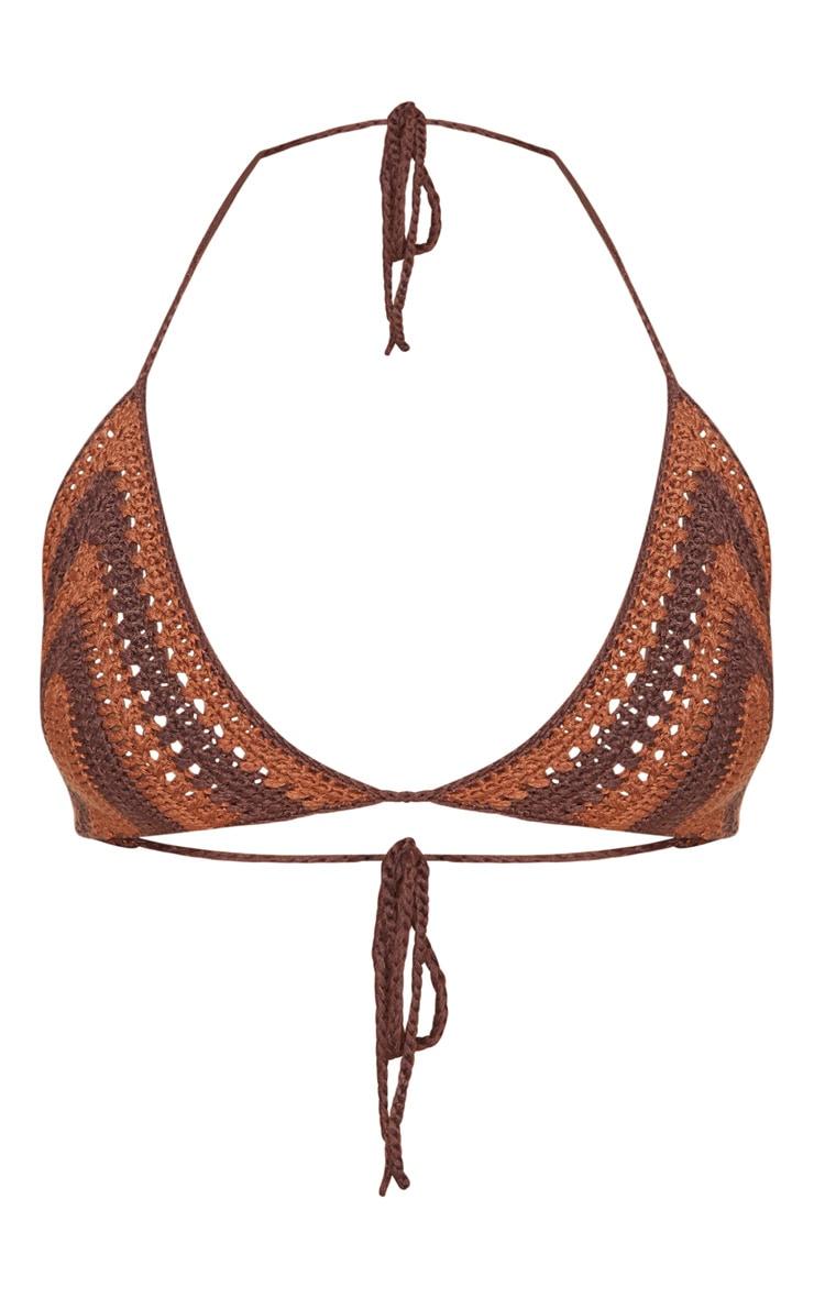 Chocolate Crochet Bikini Top 3
