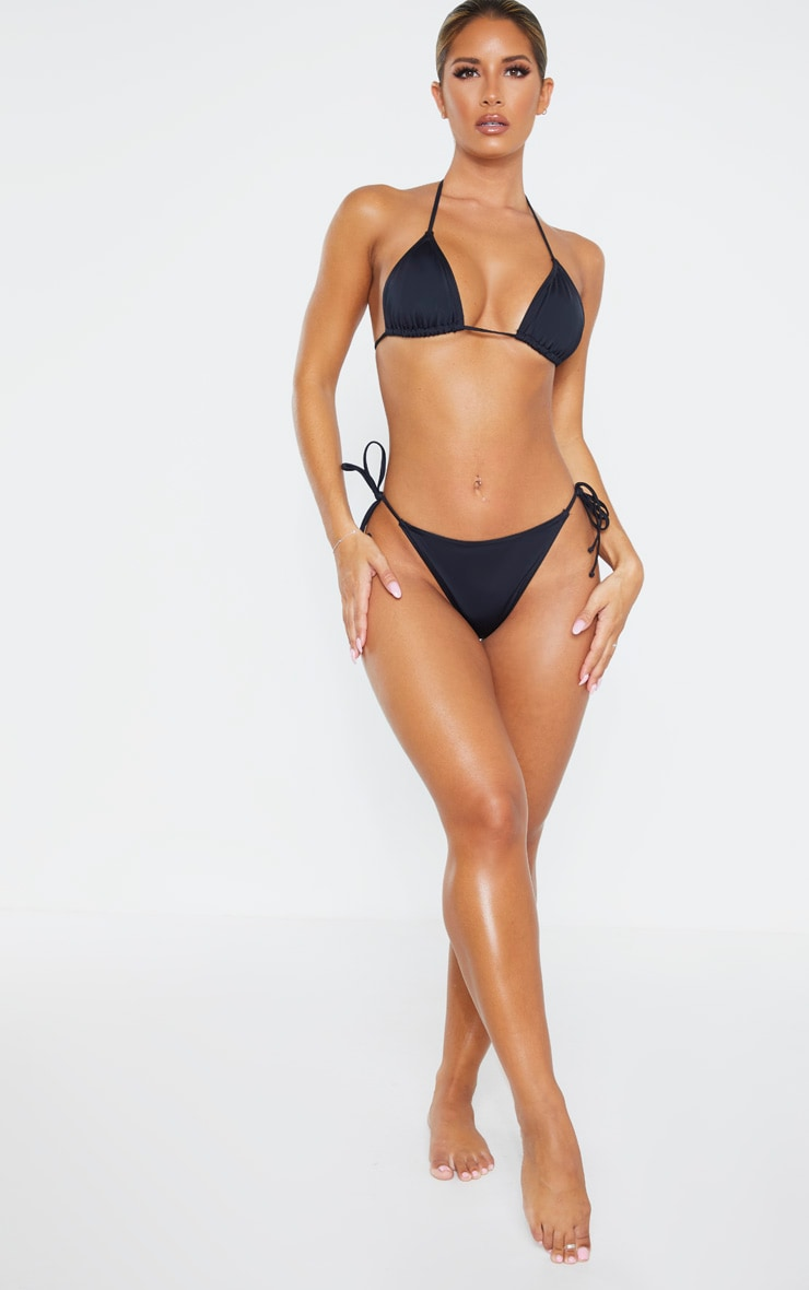 Black Recycled Mix & Match Tie Side Bikini Bottom 4