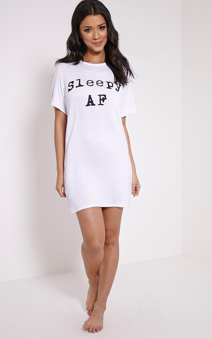 Sleepy AF White Oversized Nightshirt 3