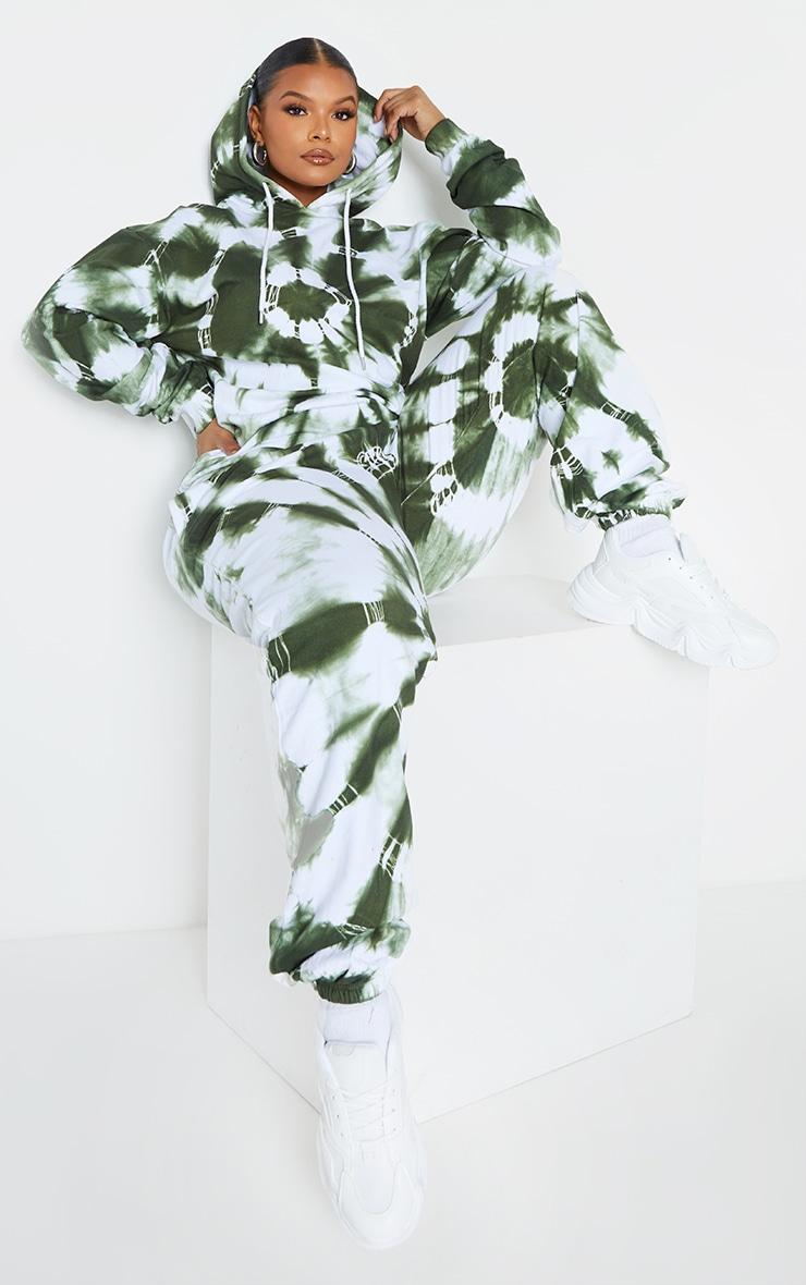 Plus Khaki Tie Dye Hoodie 3