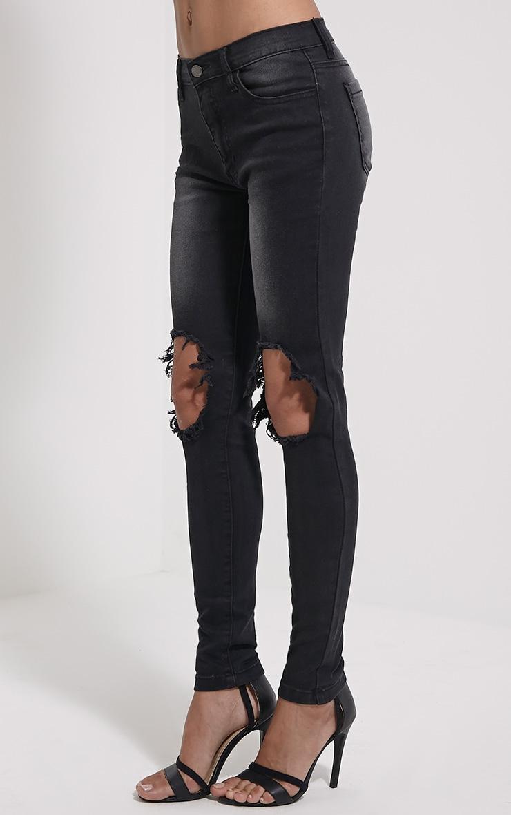 Avril Black Ripped Skinny Jean 3