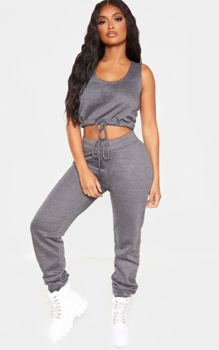Shape Charcoal Sweat Drawstring Joggers 1
