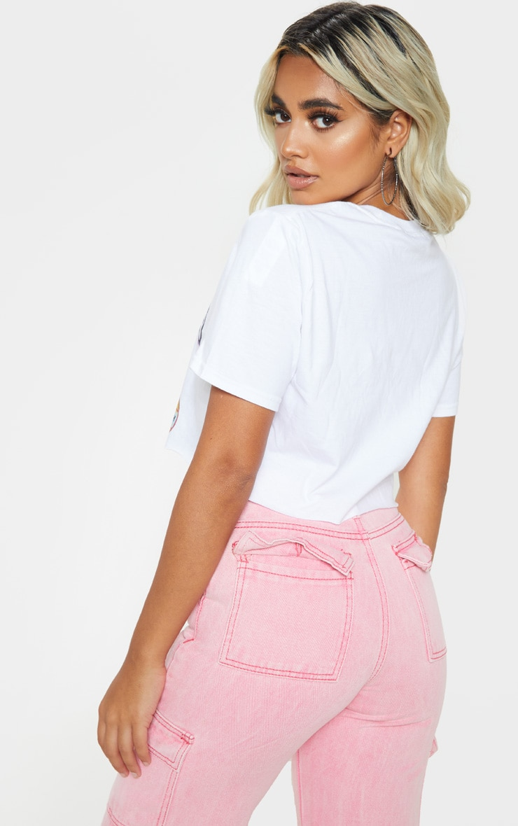 Petite White Heavenly Crop T-Shirt 2