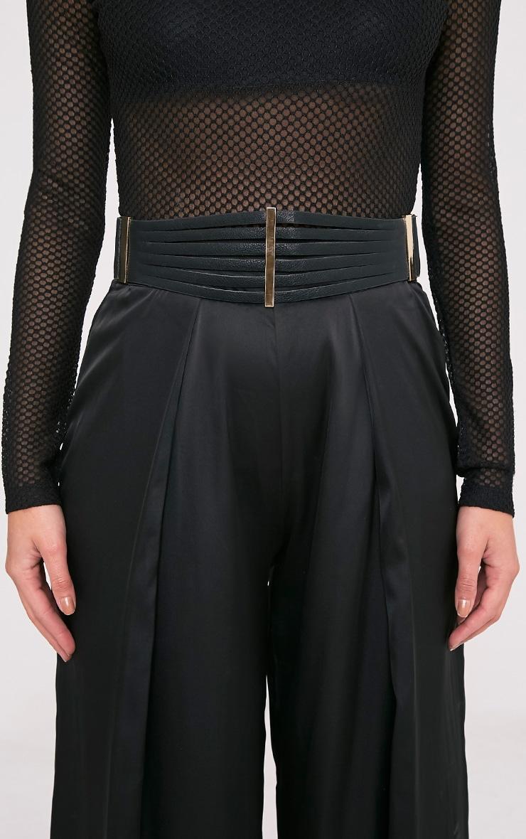 Ilena Black Multi Strap Detail Belt 2