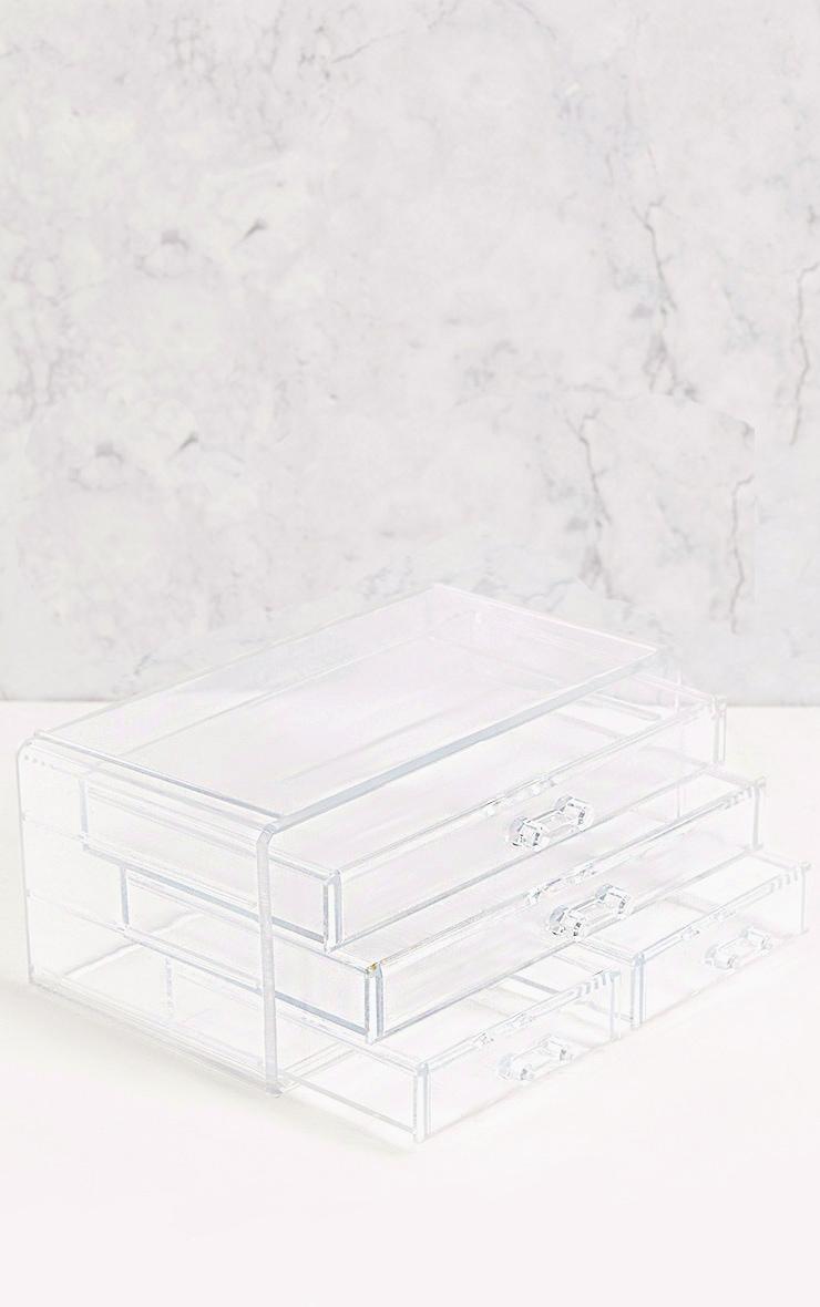 Technic Clear Four Drawer Cosmetics Organiser 2