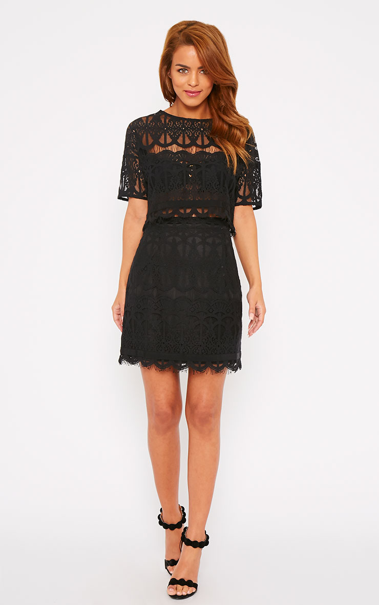Linnea Black Lace Skirt 1