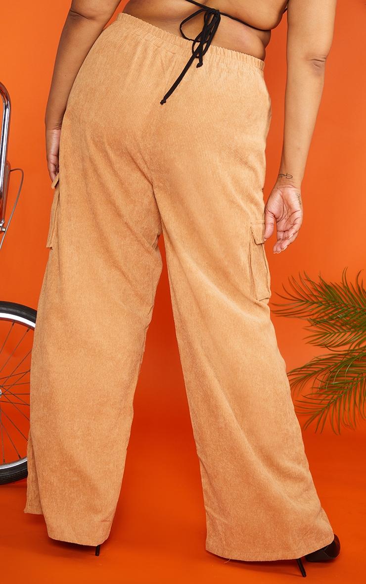Plus Sand Cord Cargo Wide Leg Pants 4