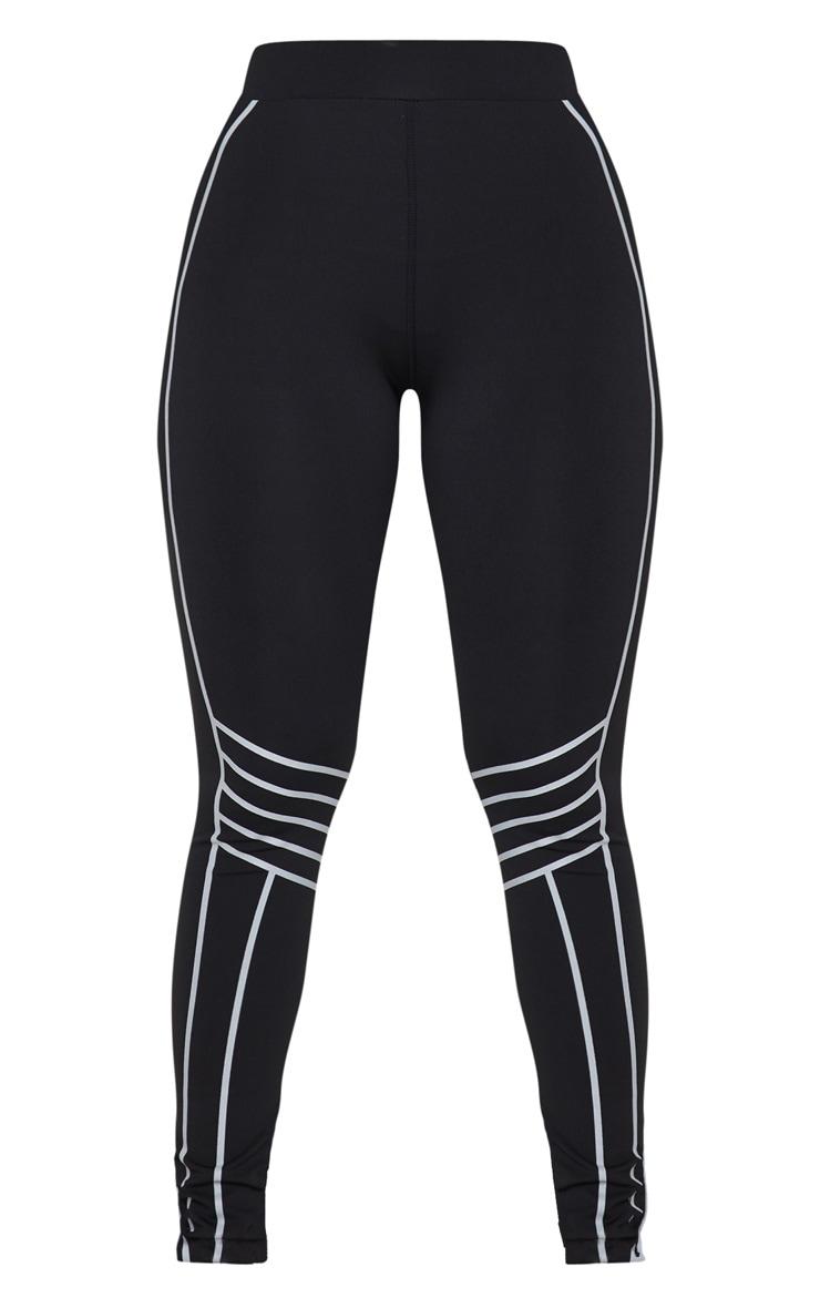 Black Line Detail Gym Leggings 5