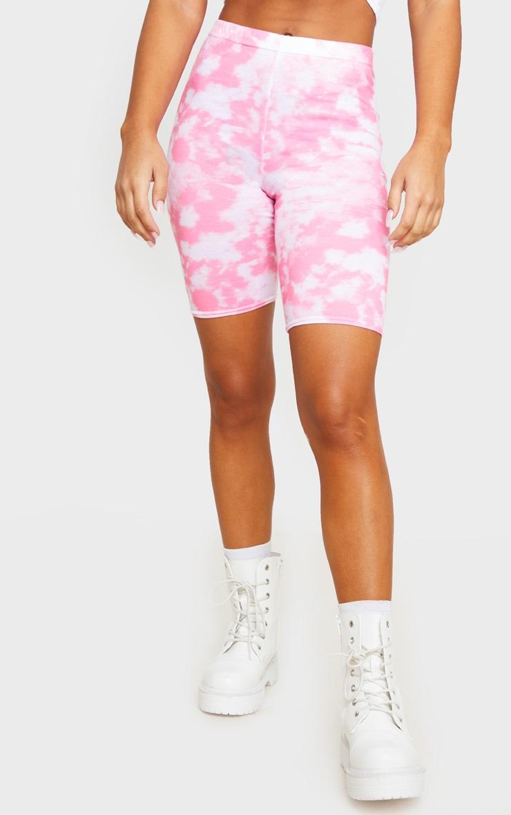 Basic Pink Tie Dye Bike Shorts 2