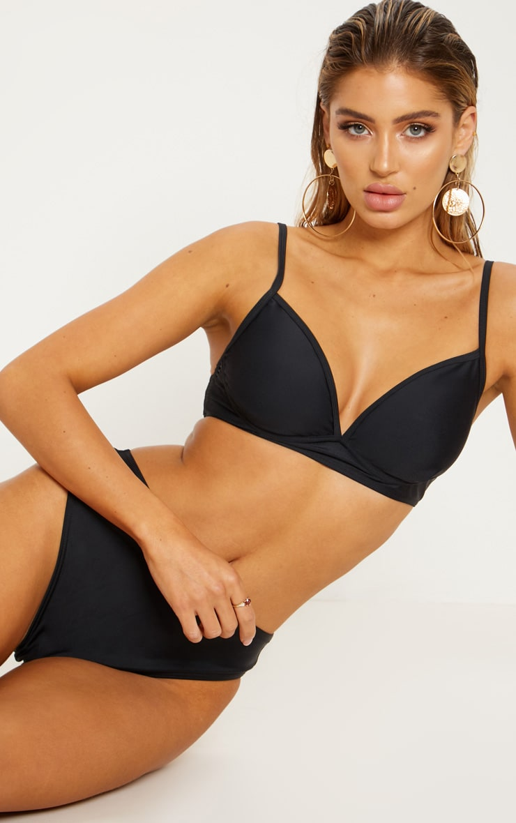 Black Underwired Bikini Top 1