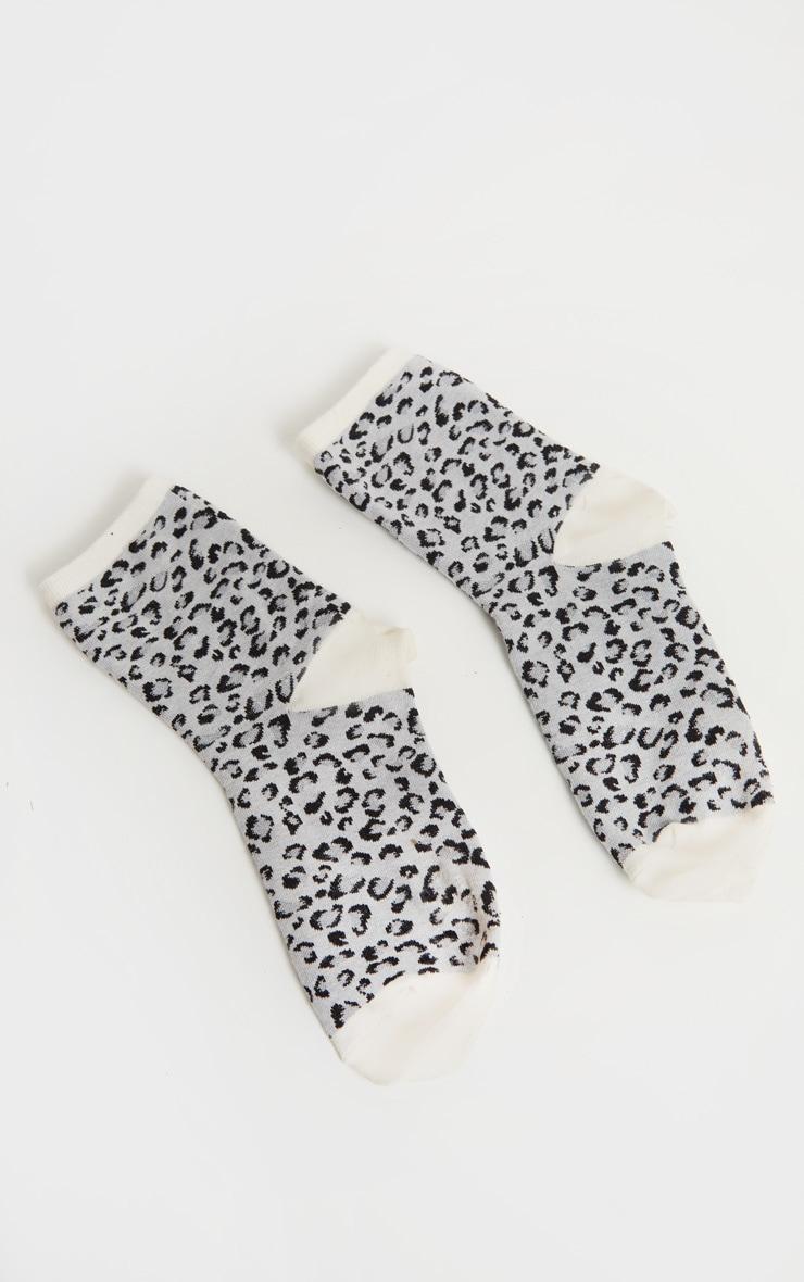 Grey Leopard Socks 3