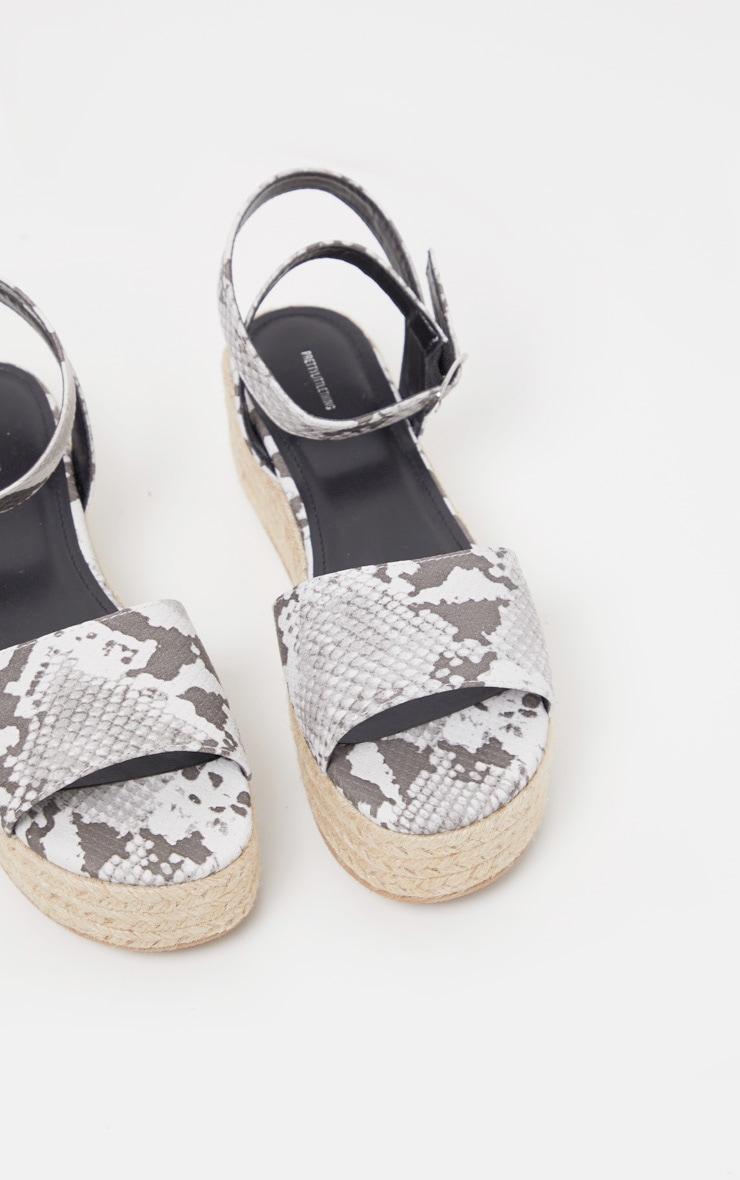 Snake Espadrille Flatform Sandal 3