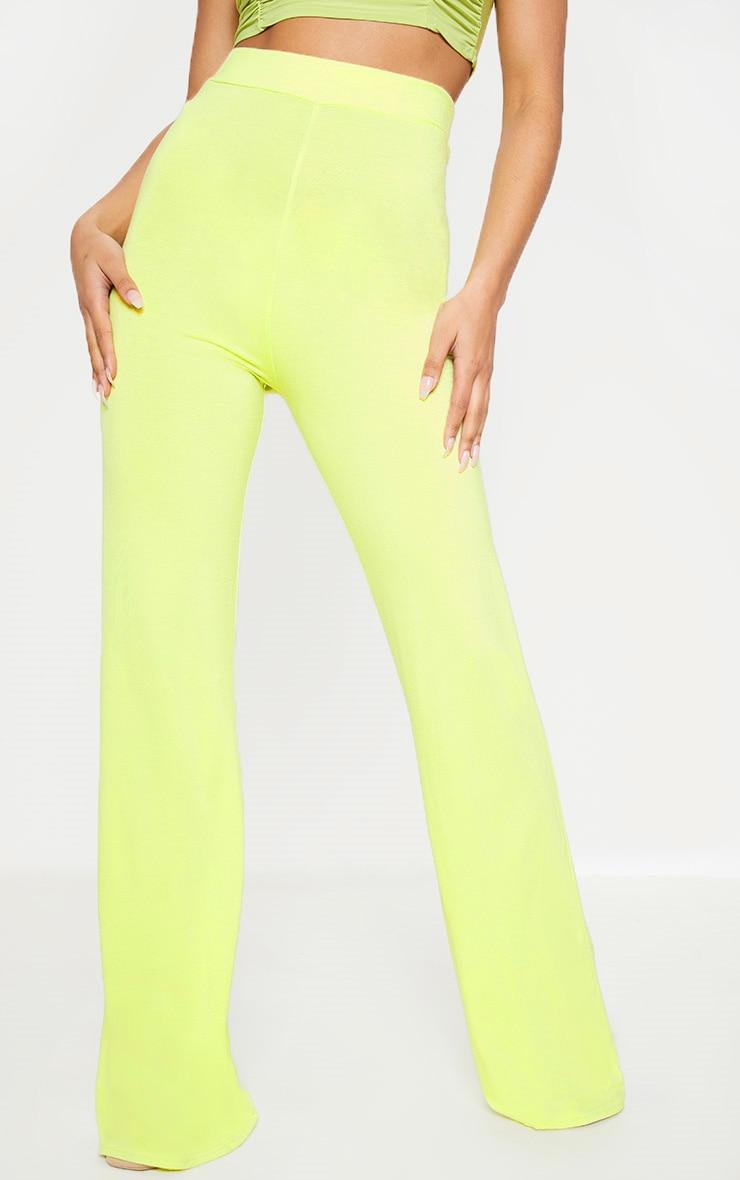 Lime Basic Wide Leg Trouser 2