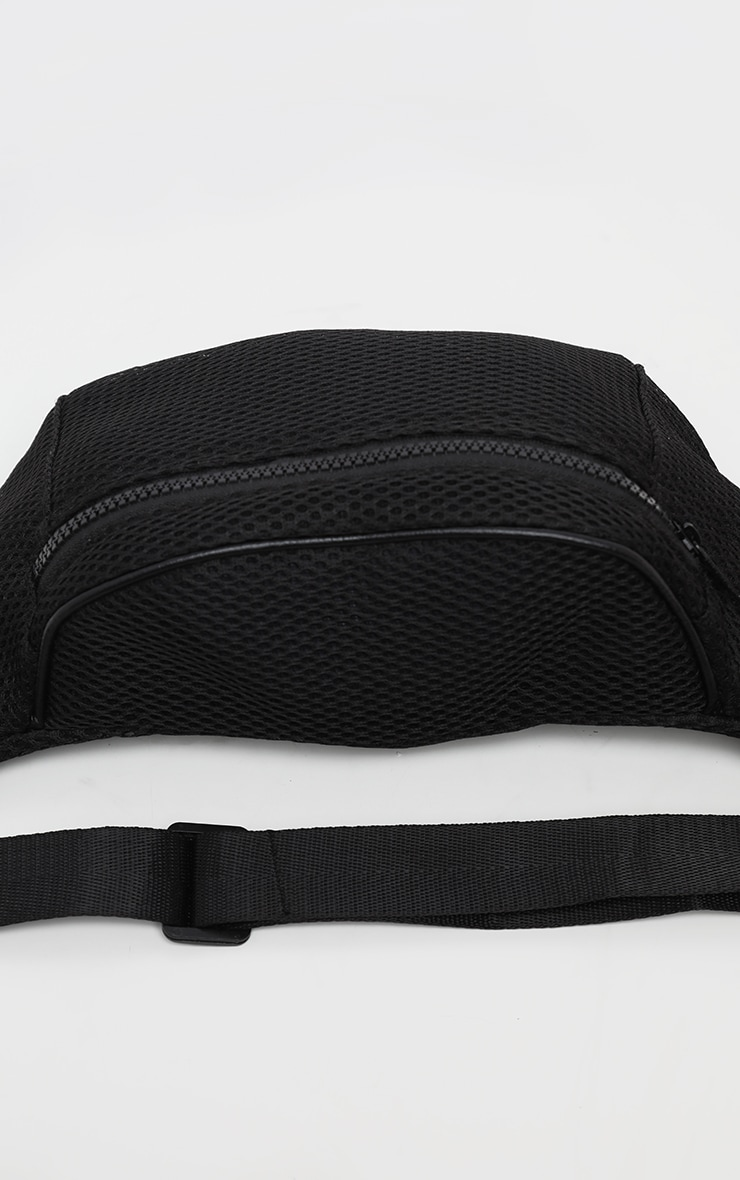 Black Mesh Zip Bum Bag 4