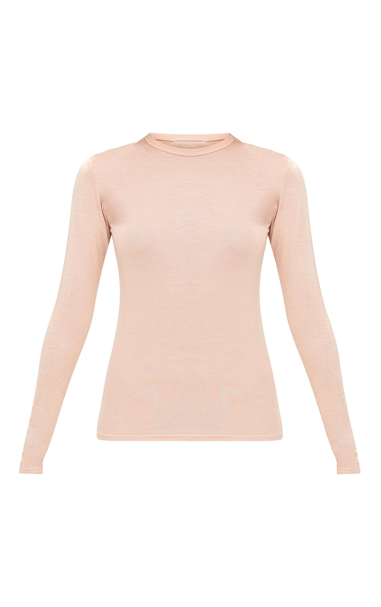 Nude Basic Longsleeve Fitted T Shirt  3