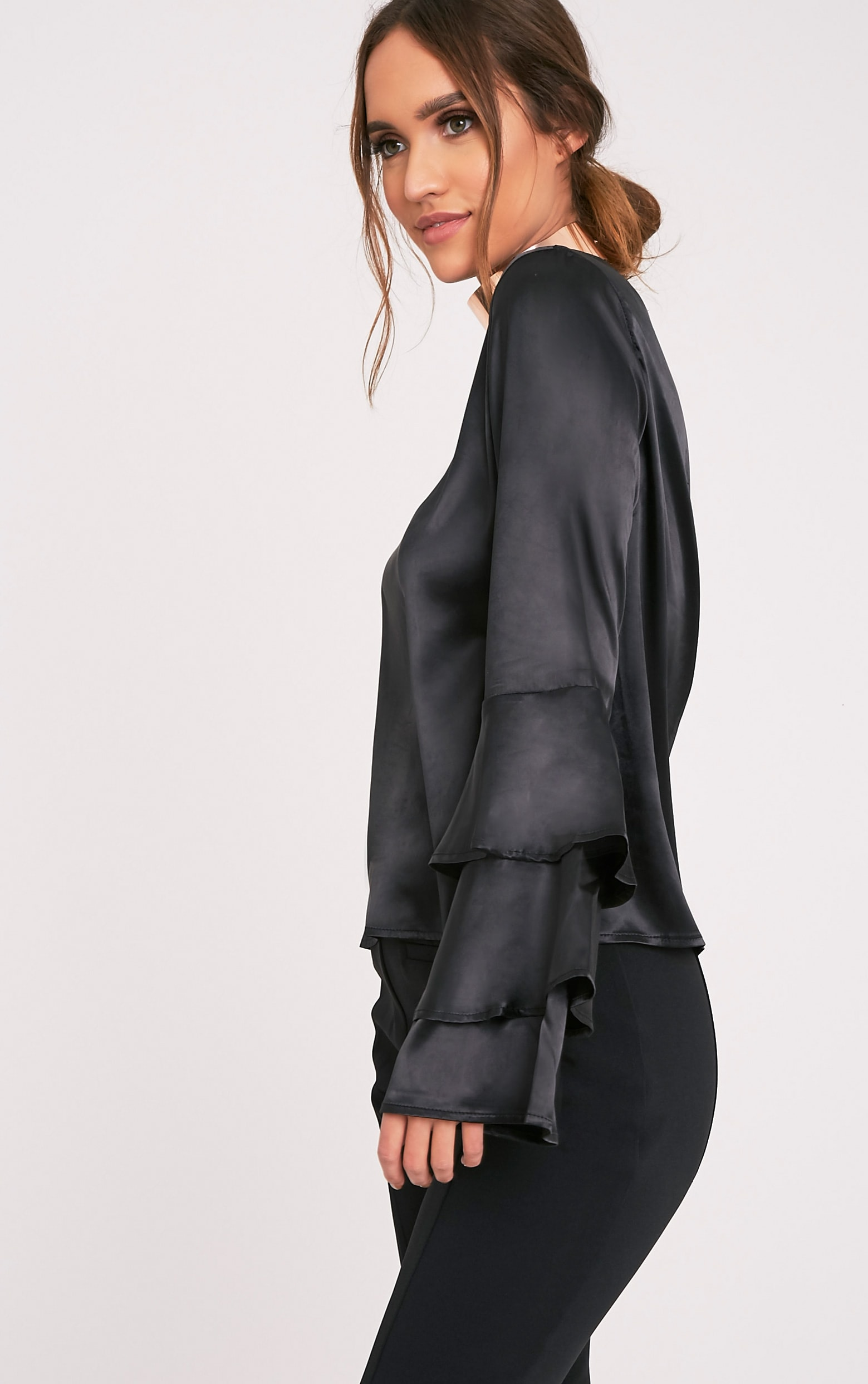 Layle Black Frill Sleeve Woven Blouse 4