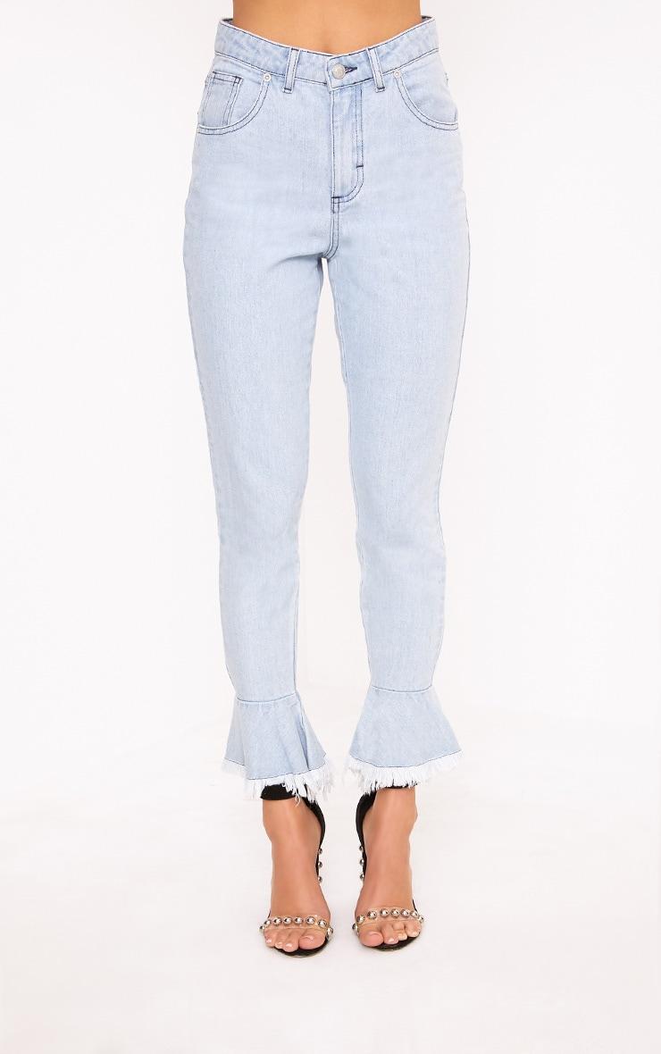 Tatjana Frill Hem Straight Leg Jean 3
