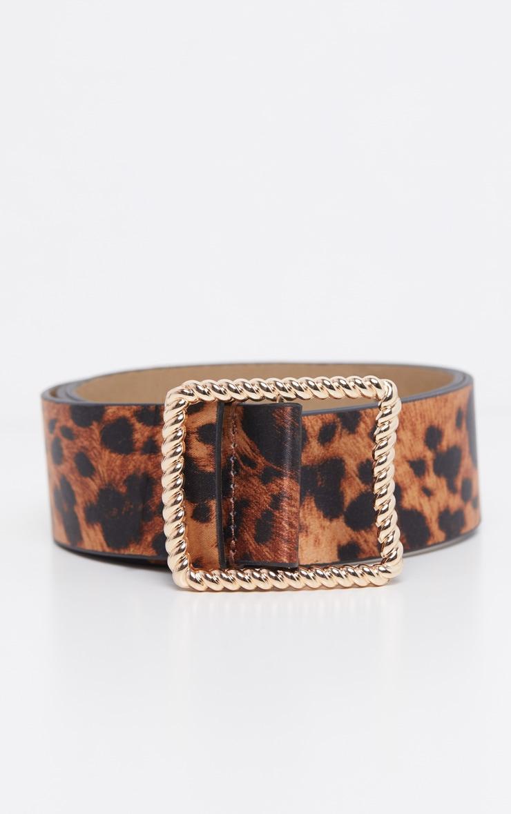 Leopard Gold Twist Buckle Belt 2