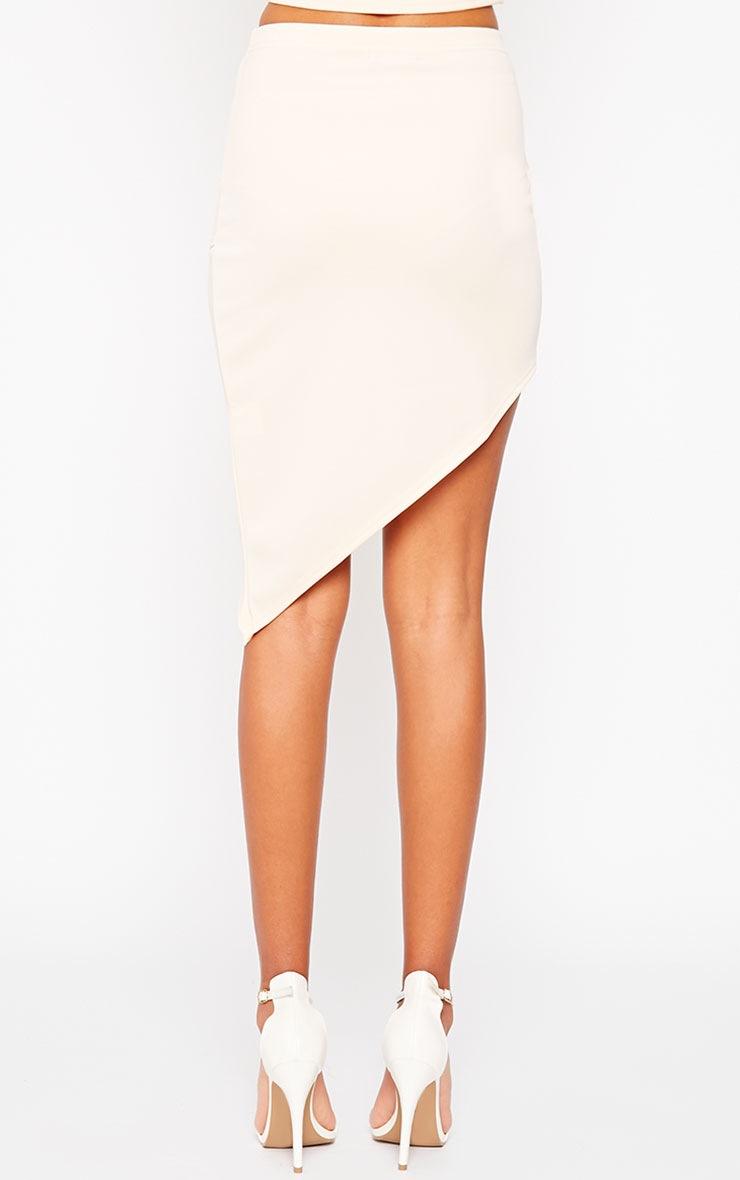 Tiff Nude Wrap Hem Scuba Skirt 4
