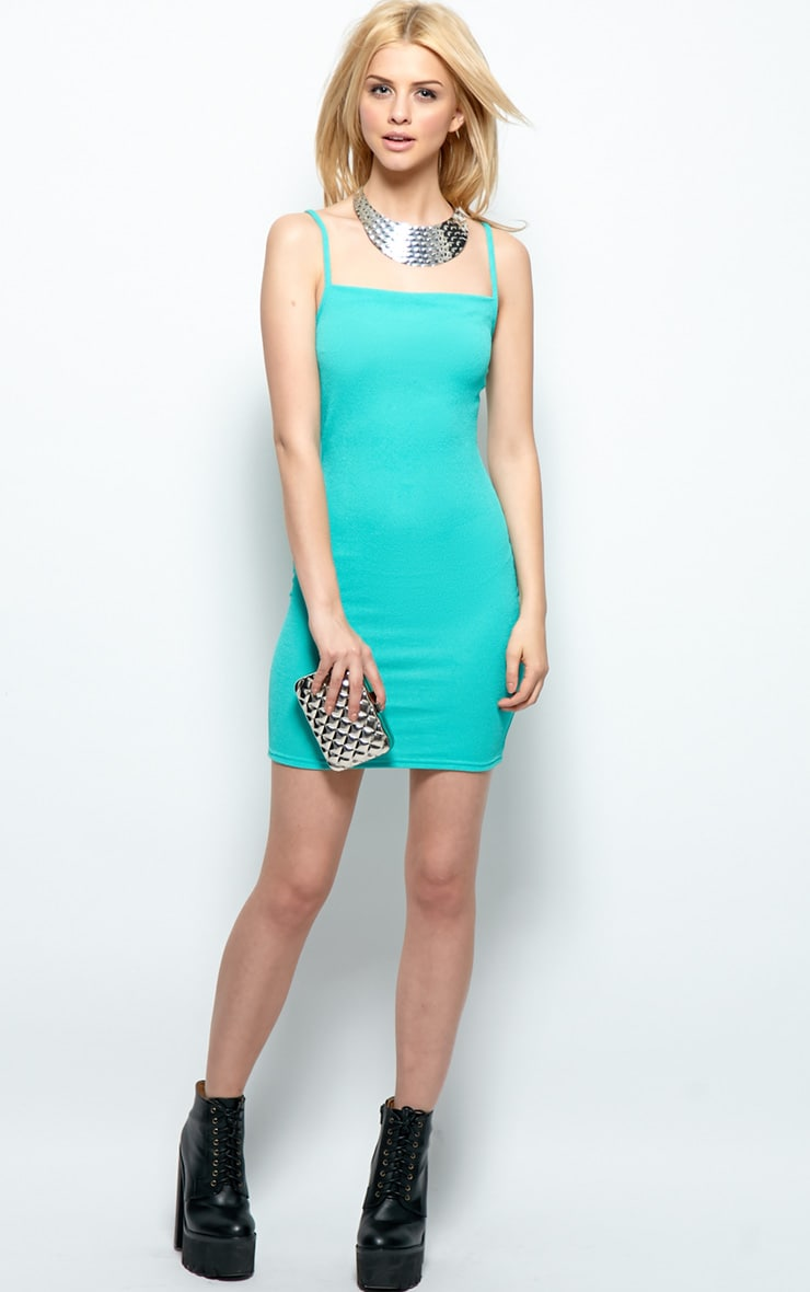 Kristin Mint Premium Jersey Strappy Dress 3