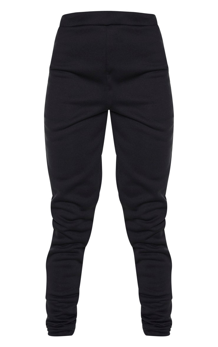 Black Basic Fleece Jogger 3