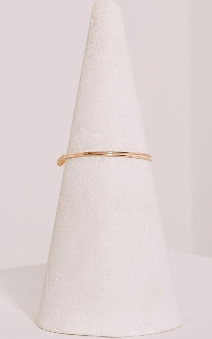 Lilian Gold Leaf Detail Upper Arm Cuff 4