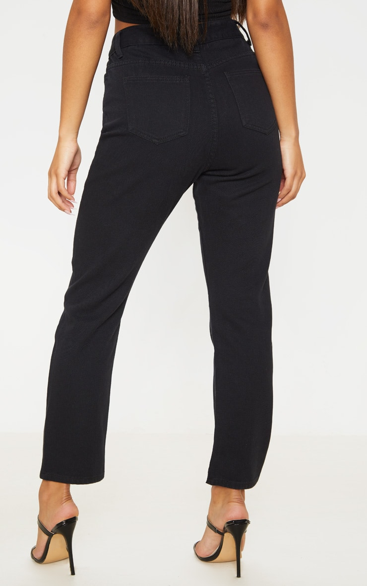 Black Basic Straight Leg Jean 4