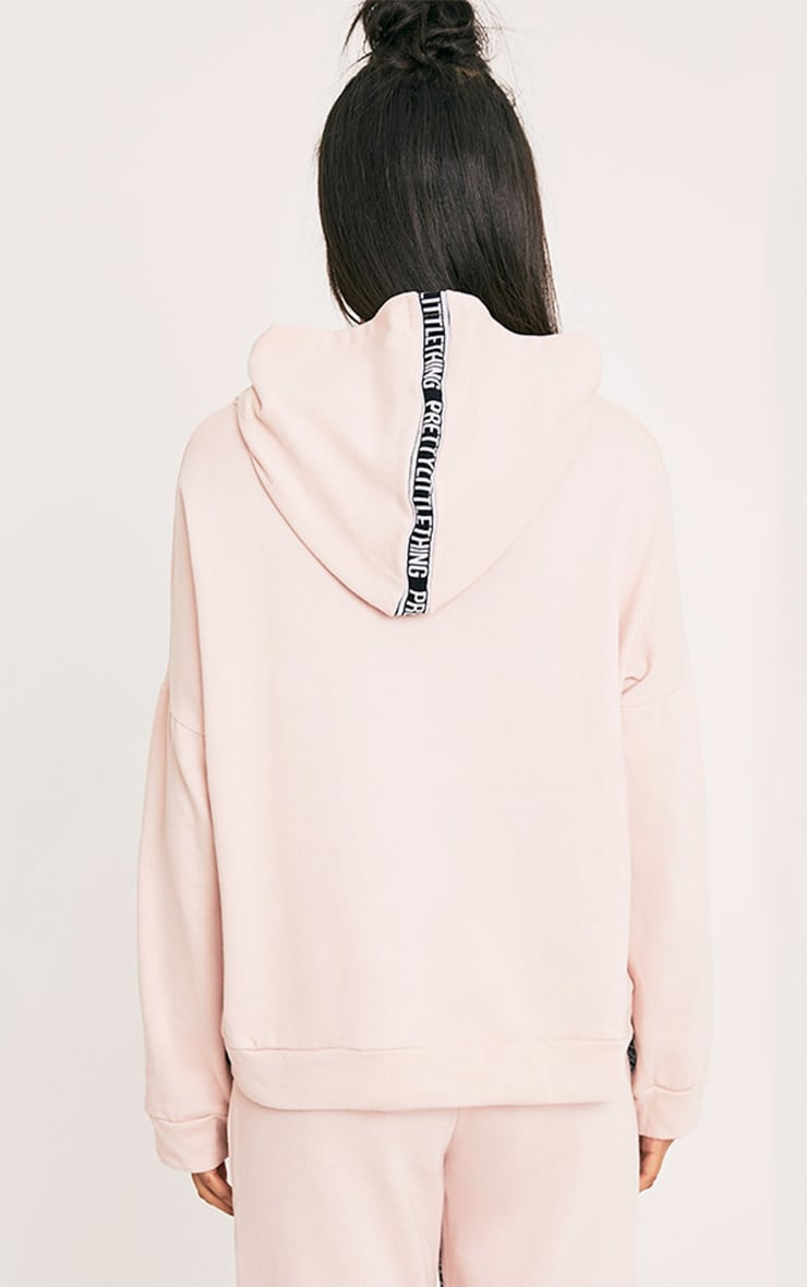 PRETTYLITTLETHING Pink Oversized Hoodie 3