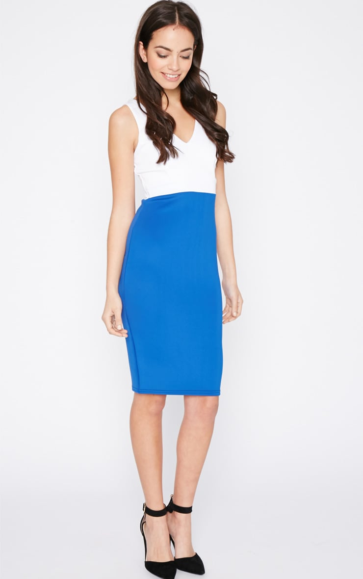 Adella Cobalt Bodycon Panel Dress 1