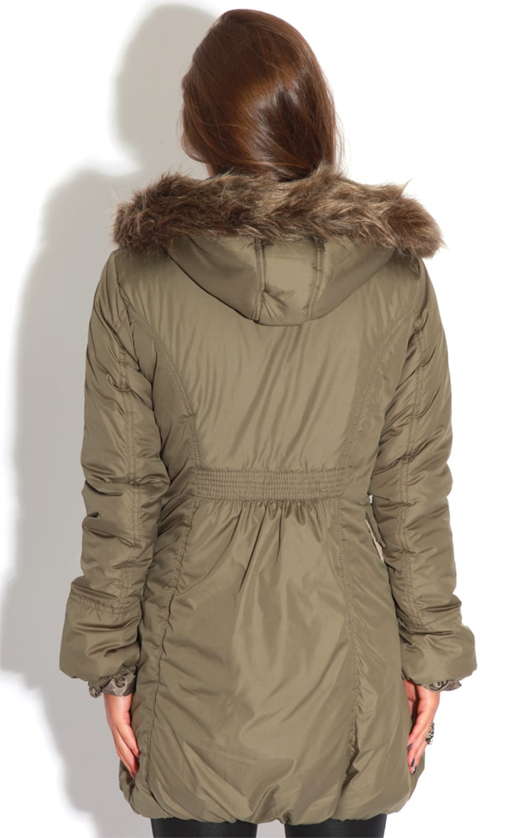 Cyra Khaki Parka With Fur Hood -16 2