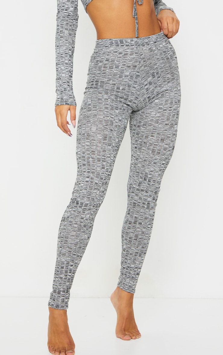 Grey Rib Lounge Leggings 2
