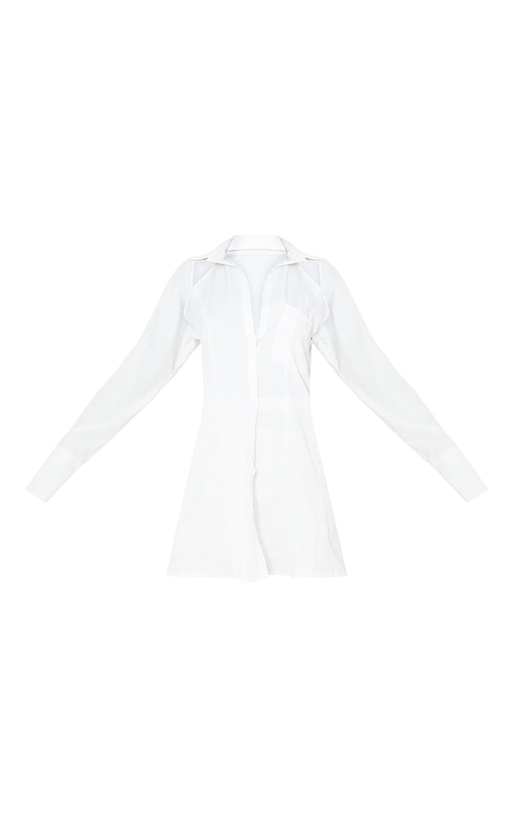 Tall White Cut Out Tie Back Shirt 5