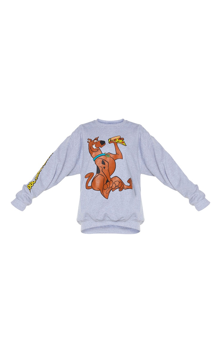 Grey Scooby Doo Printed Sweatshirt 5