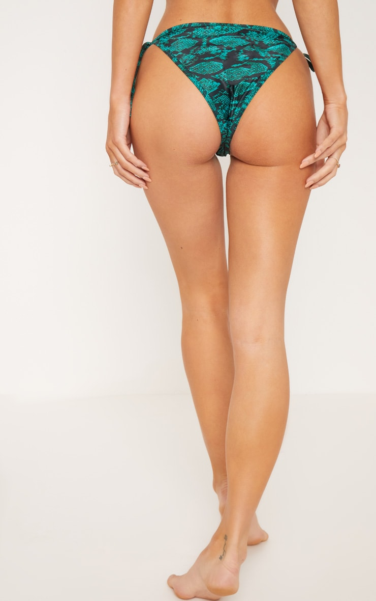 Emerald Bamboo Ring Tie Side Bikini Bottom 3