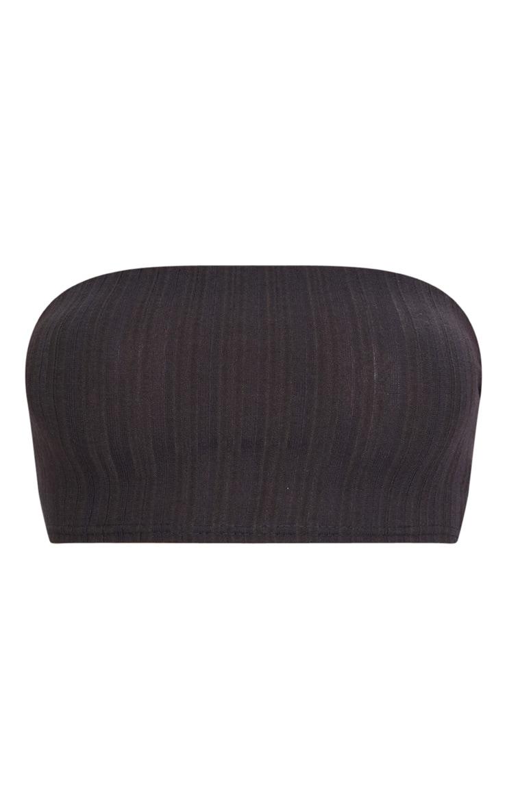Charcoal Grey Rib Bandeau Top 3
