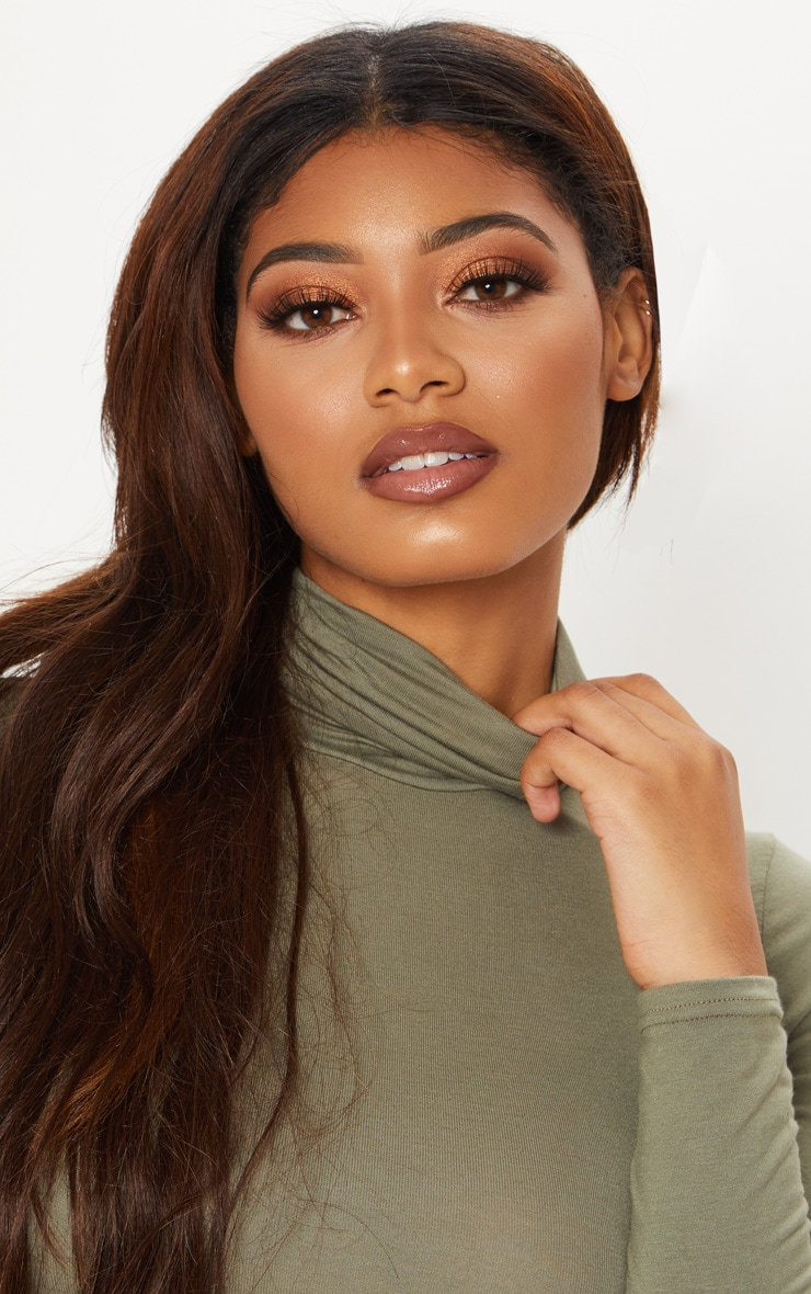 Tall Khaki Roll Neck Bodysuit 5