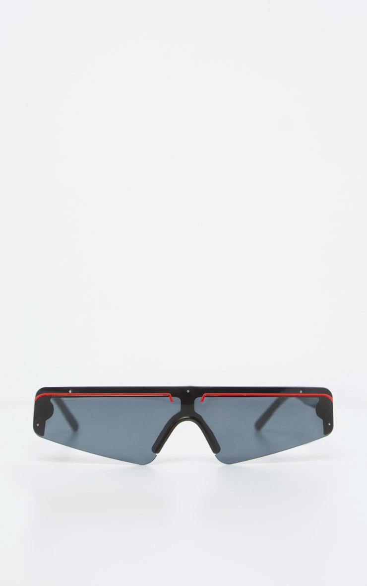Black Frame Slimline Ski Sunglasses 2
