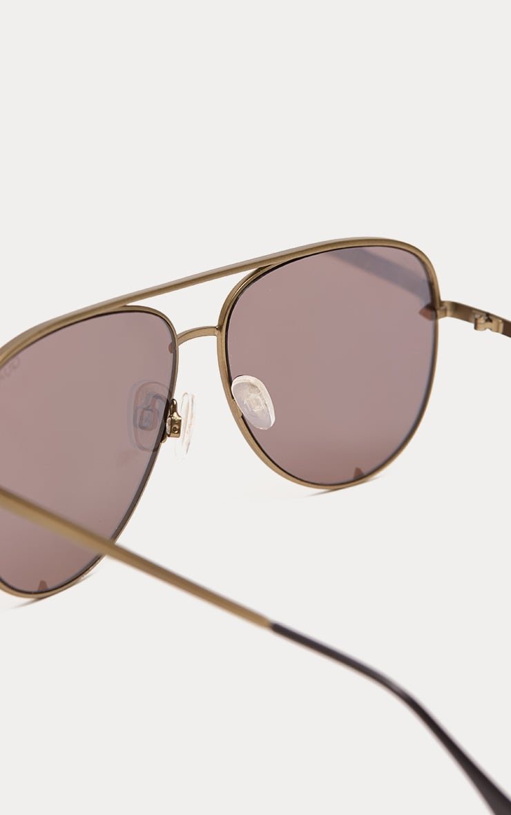 QUAY AUSTRALIA Gold The Playa Aviator Sunglasses 4