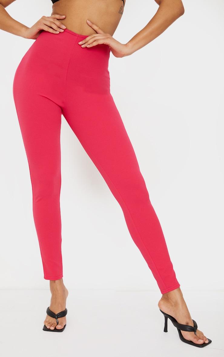 Hot Pink T Bar Skinny Pants 2