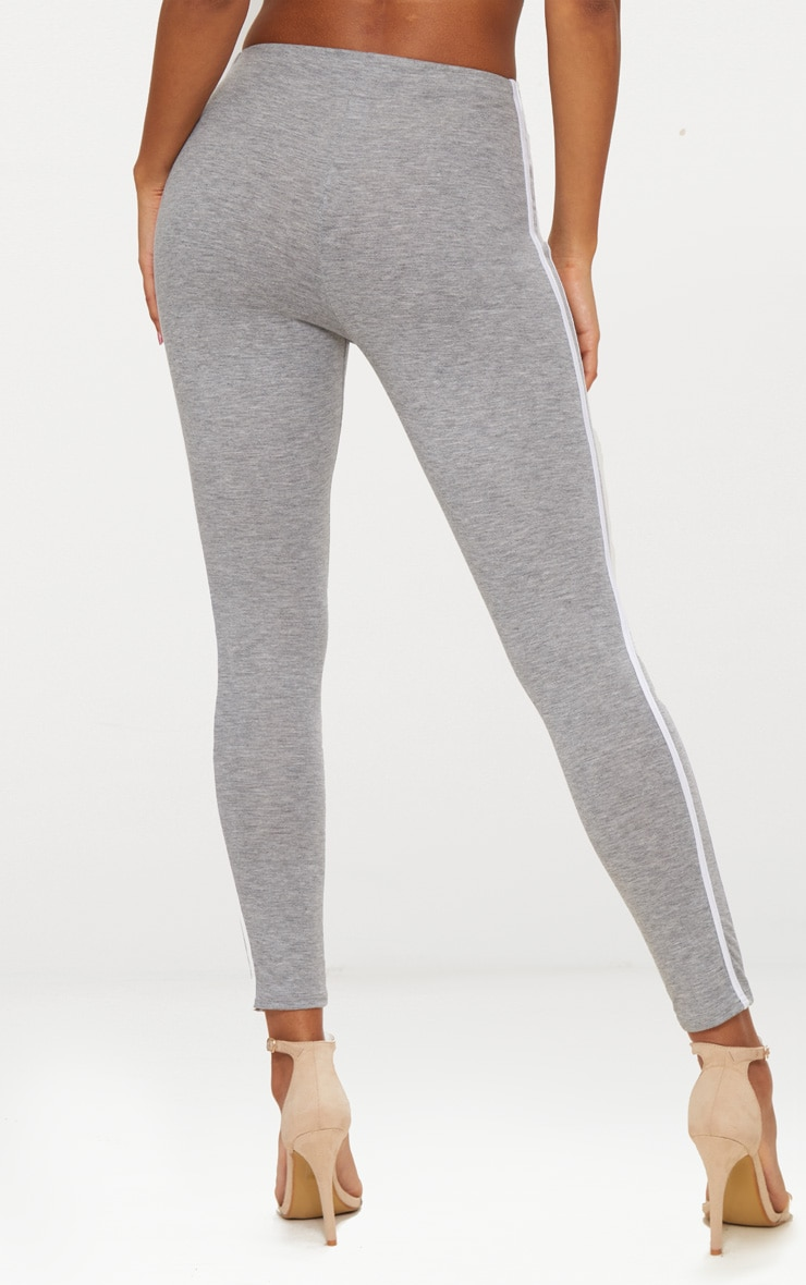 Grey Ultimate Contrast Stripe Leggings  4