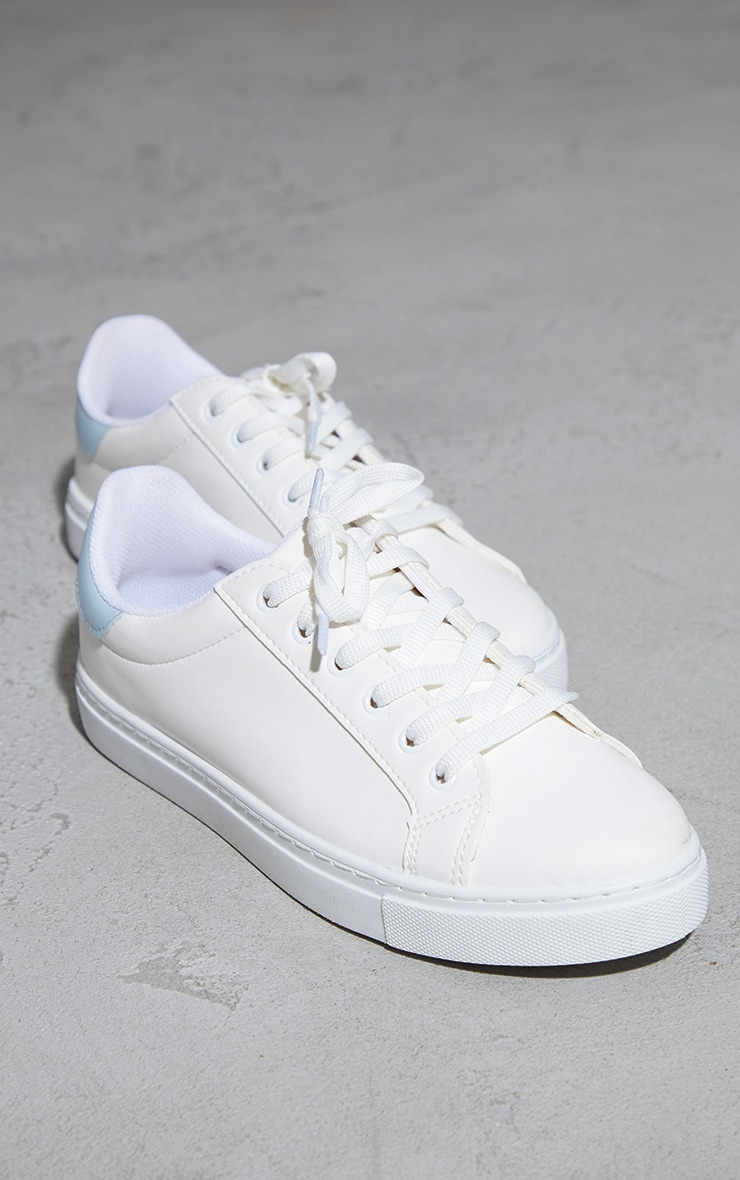 Baby Blue Basic Lace Up Trainers 4