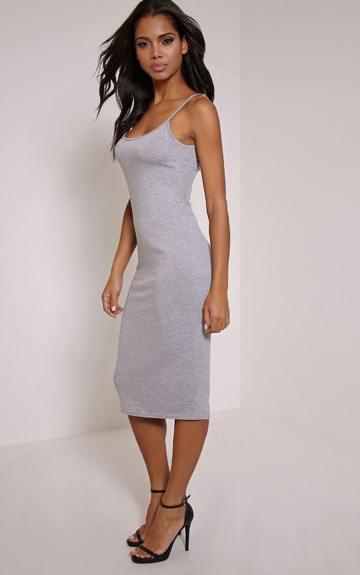 Basic robe débardeur midi grise 3