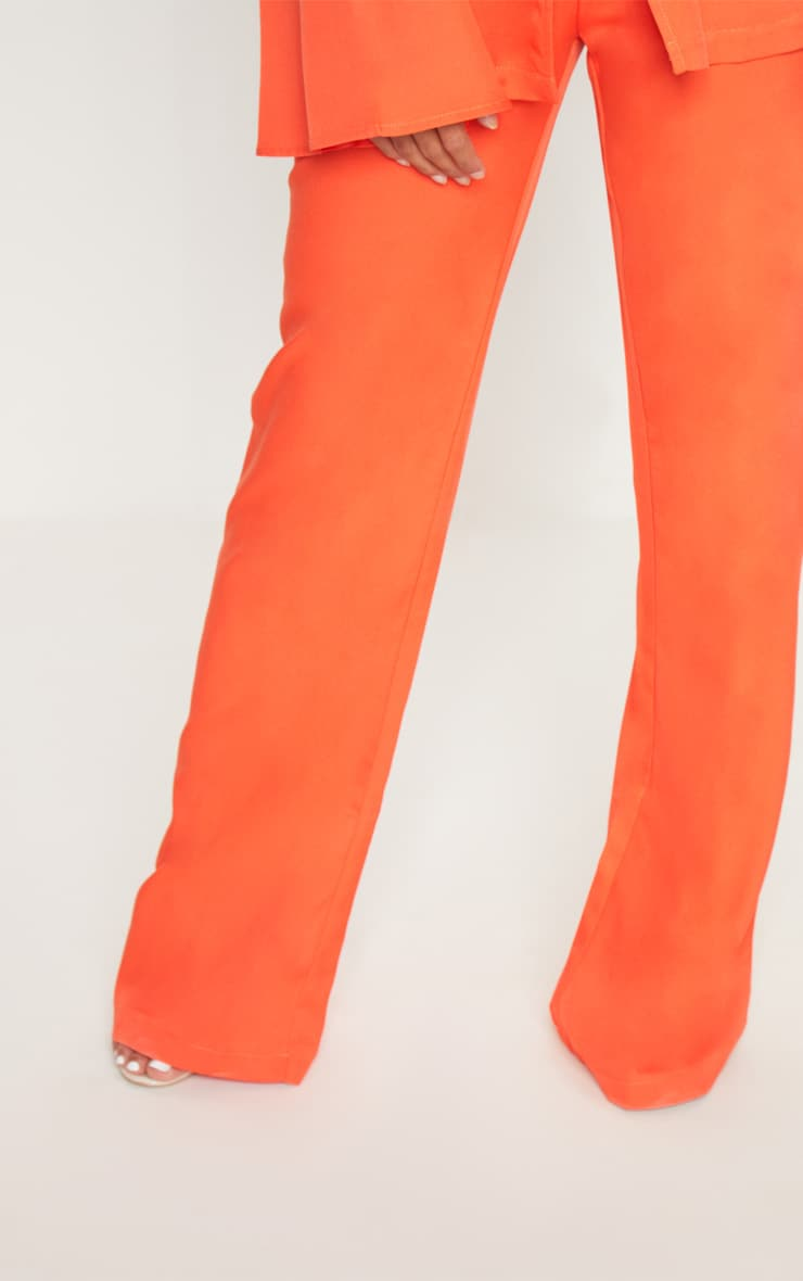 Petite Orange Wide Leg Suit Trousers 5