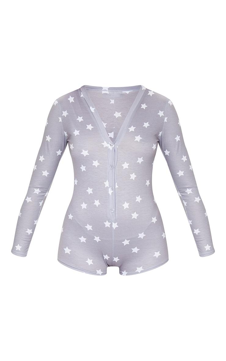 Pyjashort gris à imprimé Tired AF 5