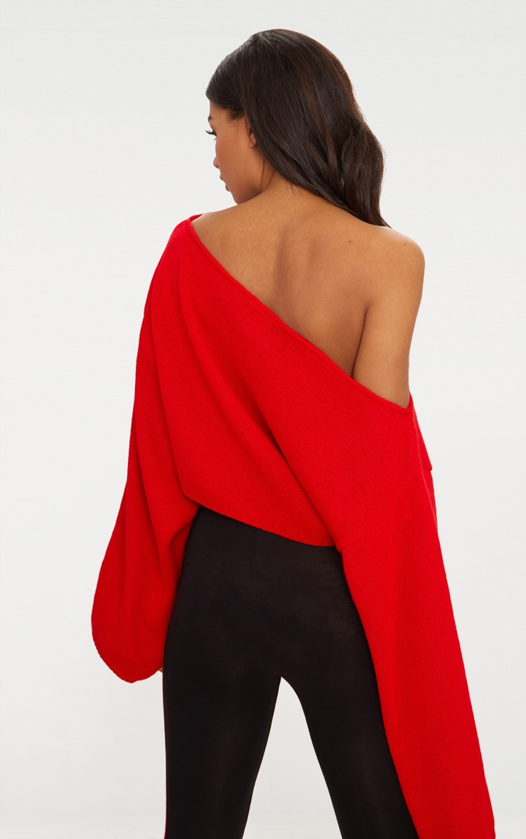 Red Wide Sleeve Jumper 2