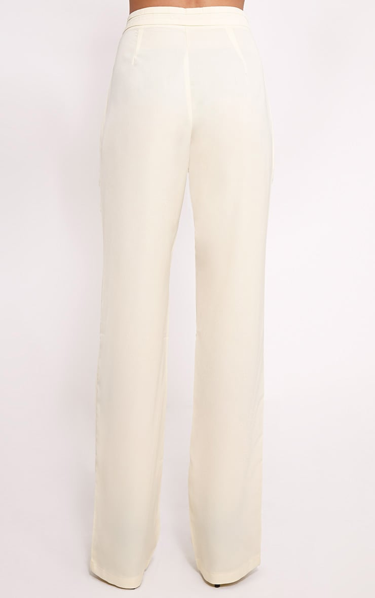Olive Cream Loose Fit Trousers 5