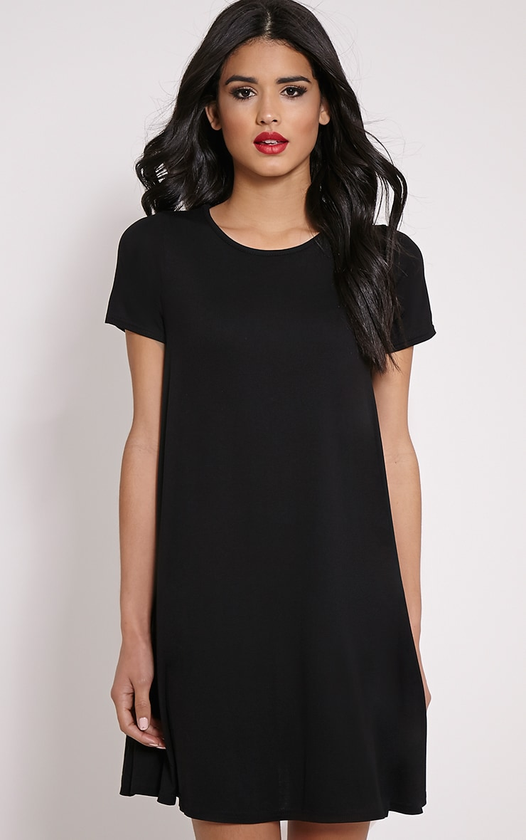 Basic Black Jersey Swing Dress 1